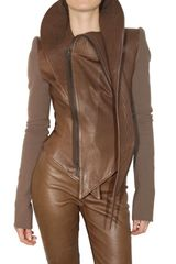 Haider Ackermann Wool Sleeves Leather Jacket - Lyst