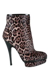 Yves Saint Laurent Leopard Low Boots - Lyst