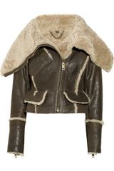 Burberry Prorsum Shearling Leather Jacket - Lyst