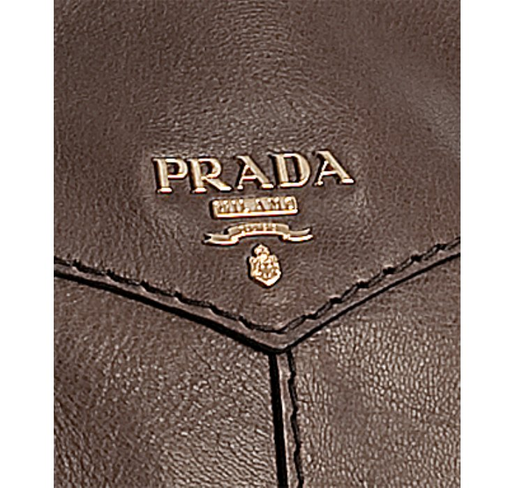 Prada Black Deerskin Large Bauletto Bowling Bag in Brown (taupe ...