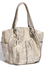 B. Makowsky Carmen Metallic Snake Embossed Leather Tote - Lyst