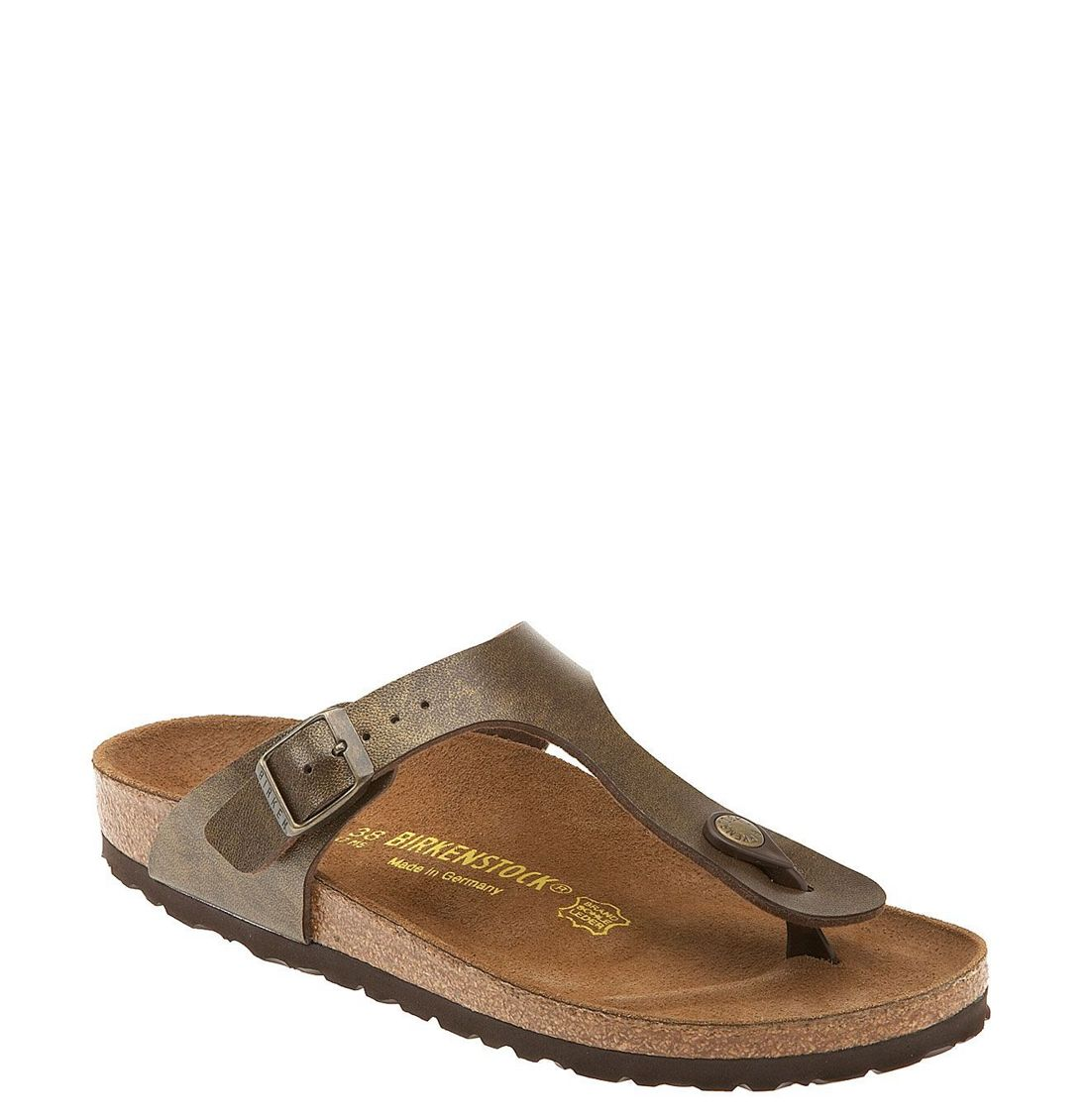 birkenstock 39 gizeh 39 birko flor thong in brown brown. Black Bedroom Furniture Sets. Home Design Ideas