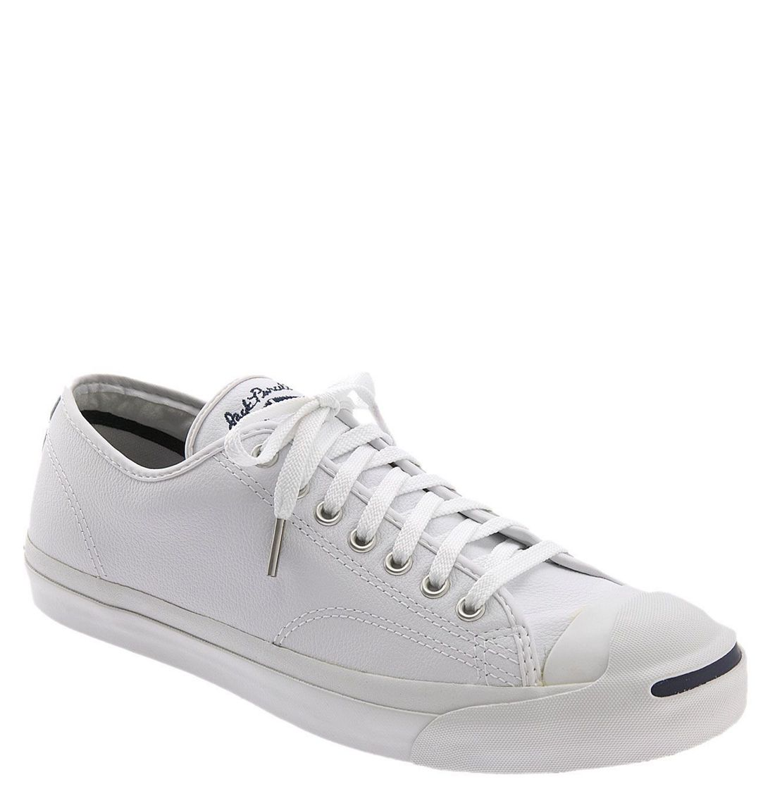 Converse Jack Purcell Leather Sneaker (women) in White ...