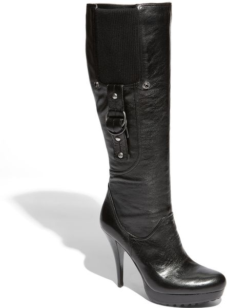 guess hearne boot in black black leather lyst