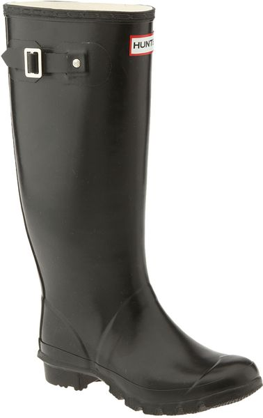 Hunter Huntress Black Rubber Rain Boot In Black Lyst