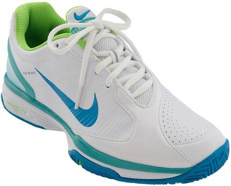 Nike Lunarlite Speed Tennis Shoe (women) in Blue (white/electric green