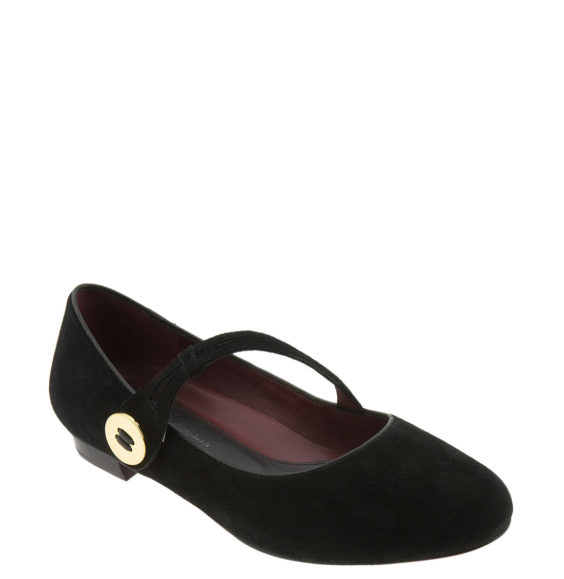 Oh! Shoes Franka Mary Jane Flat in Black (black suede) | Lyst