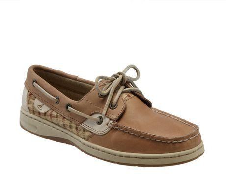 Sperry Top Sider Bluefish 2 Eye Boat Shoe Women In Brown Linen/tatt