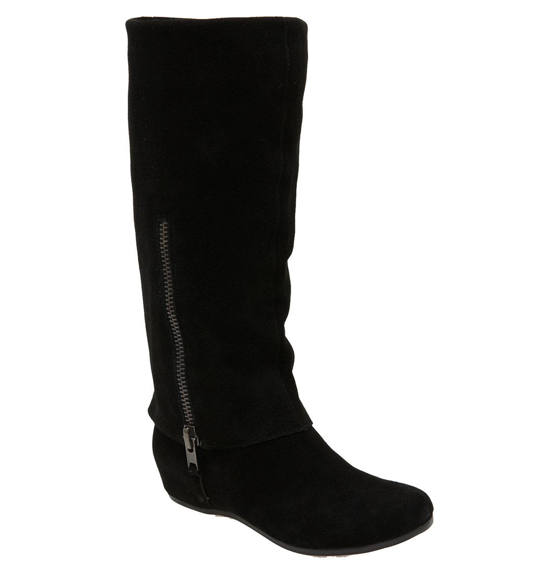 steve madden criskros boot in black black suede lyst