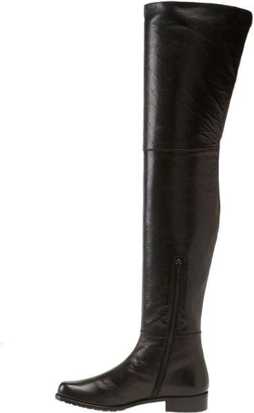 stuart weitzman hilo thigh high boot in black black nappa