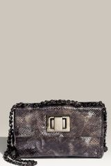Stuart Weitzman Daisy Snake Embossed Leather Bag - Lyst