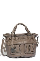 Vince Camuto Hailey Studded Drawstring Shopper - Lyst
