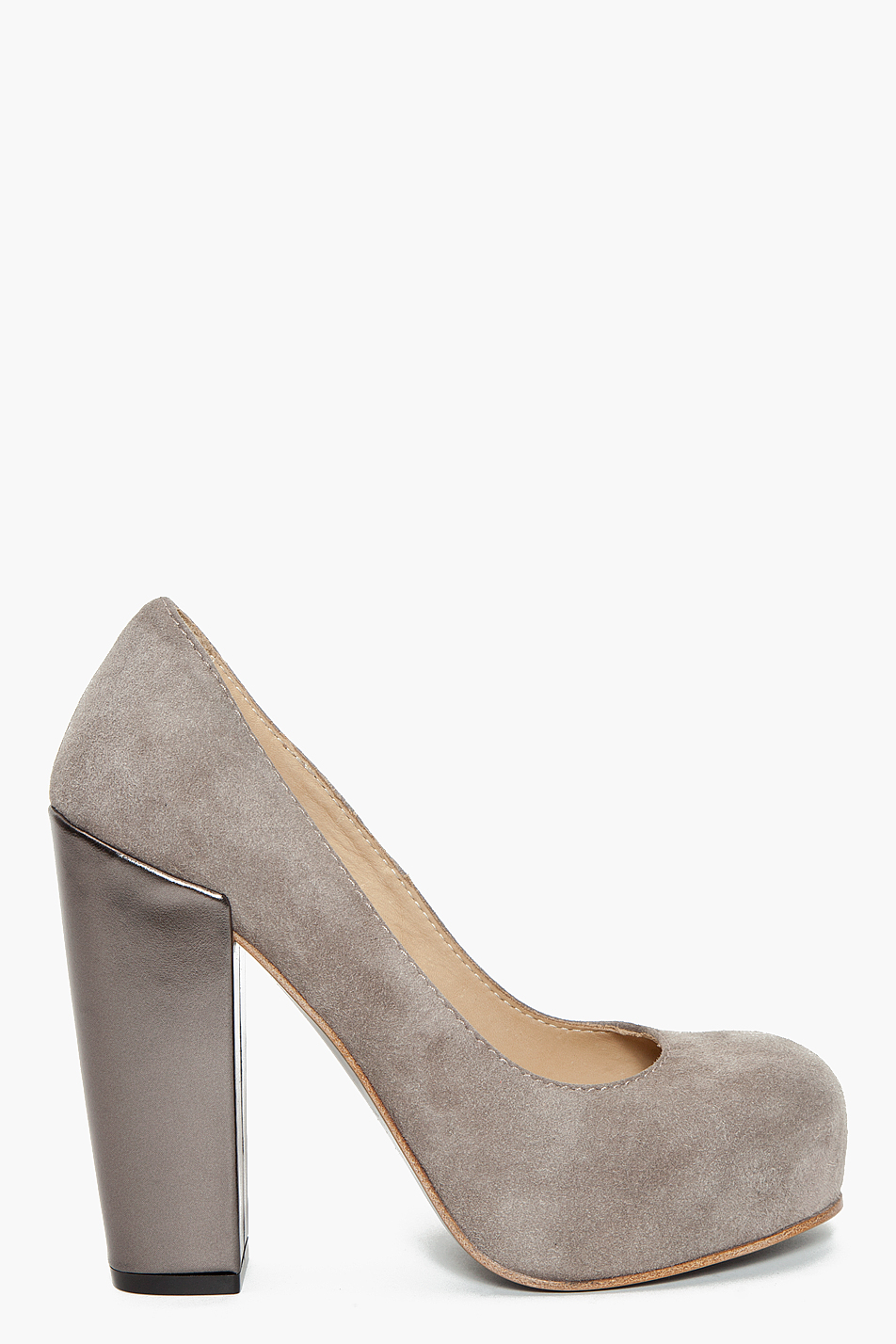 acne studios grey platform heels in gray grey lyst