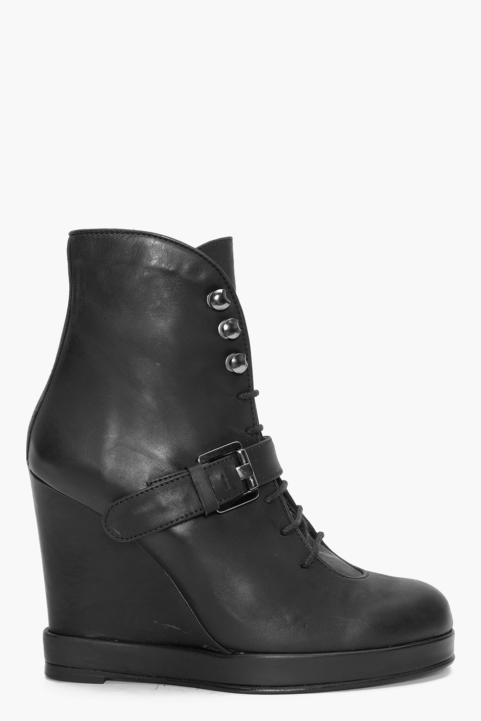 Surface To Air Buckle Ankle Boots In Black Lyst