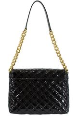 Marc Jacobs Extra Large Single in Black Patent in Black - Lyst