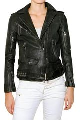 Balmain Rough Leather Jacket