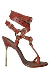 Emilio Pucci 120mm Criss Cross Ankle Thong Sandals