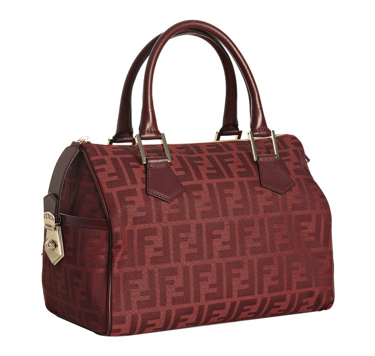 d5d92c7ce6c6 ... cheapest lyst fendi red zucca canvas chef top handle bag in red ad7f4  b3448