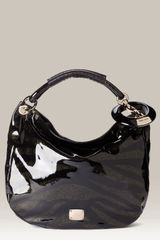 Jimmy Choo Zebra Patent Leather Hobo - Lyst