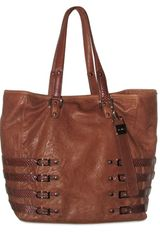 Jimmy Choo Textured Lamb Elaphe Shopping Tote - Lyst