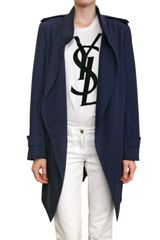 Yves Saint Laurent Light Gabardine Coat - Lyst