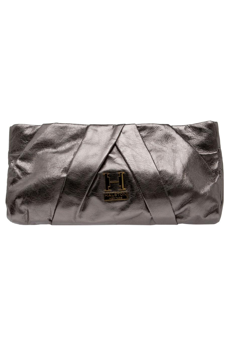 Lyst - Halston Alice Stingray Pleated Clutch in Metallic ef95c3035937f