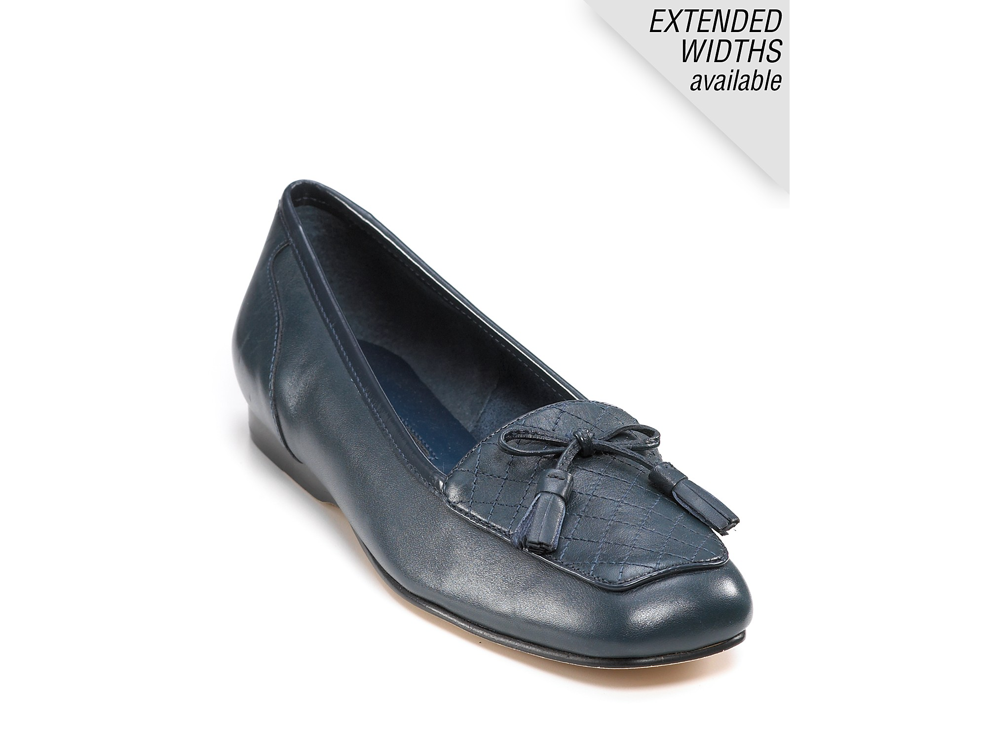 enzo angiolini lizzia navy leather flats in blue navy
