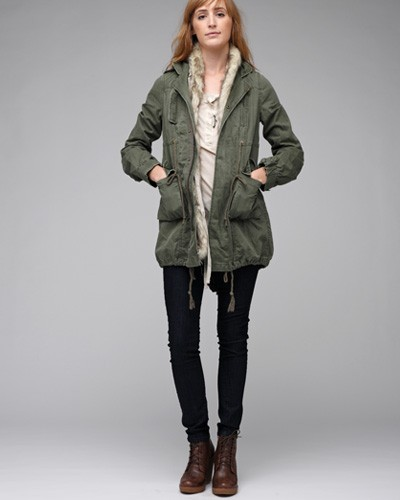 Free people Fur Trimmed Parka in Green | Lyst