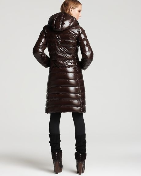 moncler moka puffer with detachable hood in brown chocolate lyst. Black Bedroom Furniture Sets. Home Design Ideas