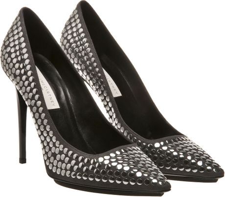 Stella Mccartney Studded Courts in Gray (charcoal) - Lyst