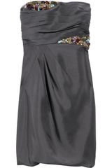 Tibi Bead-embellished Silk-organza Dress - Lyst