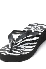 Tory Burch Wedge Flip Flops - Lyst