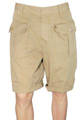 DSquared2 Light Gabardine Cargo Shorts - Lyst