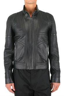 Versace Chain Biker Leather Jacket - Lyst