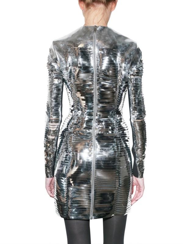 Lyst Gareth Pugh Metallic Slit Pvc Dress In Metallic
