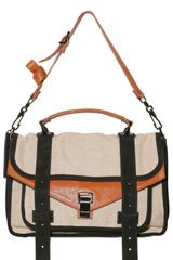 Proenza Schouler Ps1 Medium Linen Shoulder Bag - Lyst