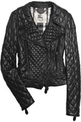 Burberry Quilted Leather Biker Jacket - Lyst