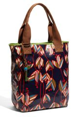 Fossil Key Per Printed Coated Canvas Tote - Lyst