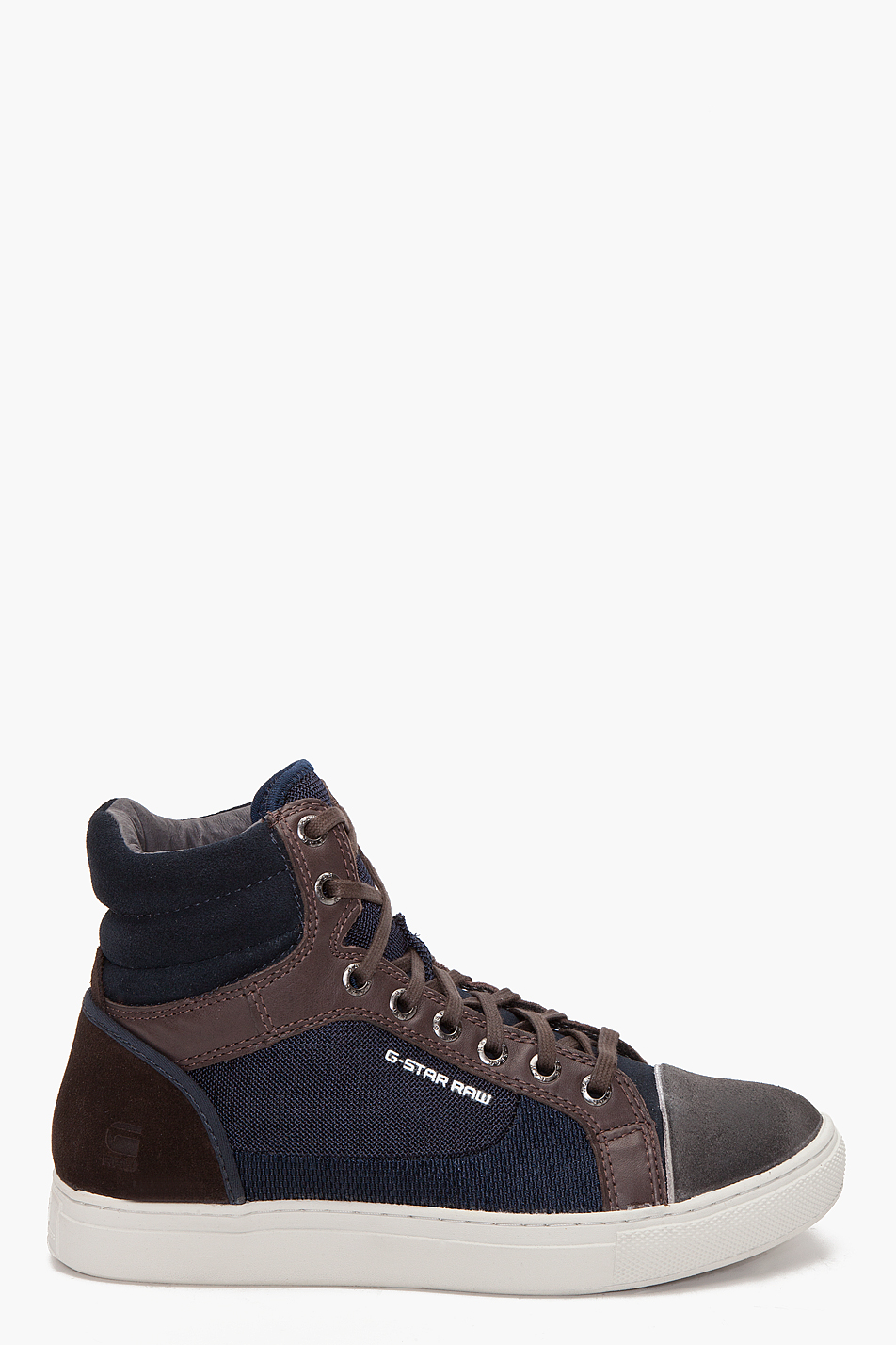 G Star Raw Augur Samovar Hi Sneakers In Brown For Men Lyst