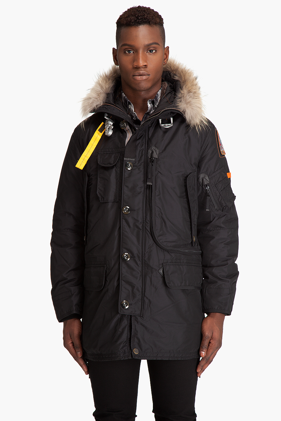 ... parajumpers kodiak parka in black for men lyst
