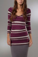 Free People Jagged Stripe Pullover Sweater - Lyst