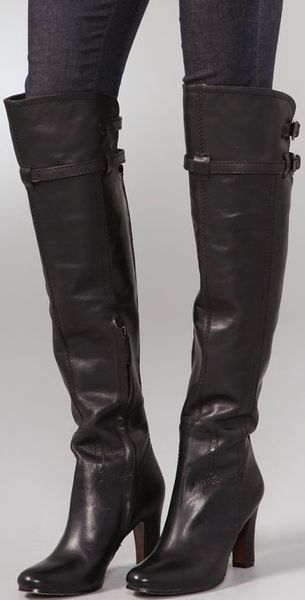 Sam Edelman Sutton Over The Knee Boots In Black Lyst