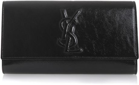Yves Saint Laurent Belle De Jour Clutch Bag in Black - Lyst
