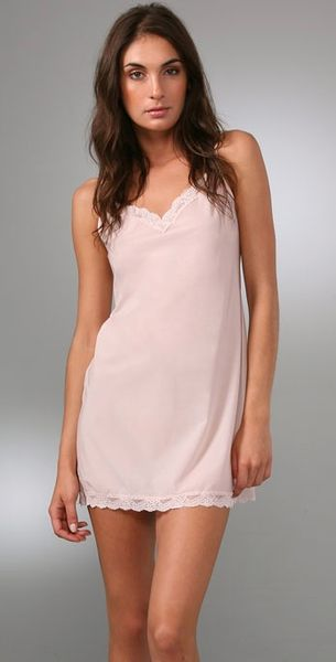 Cosabella Aire Chemise with Lace Trim in Pink - Lyst