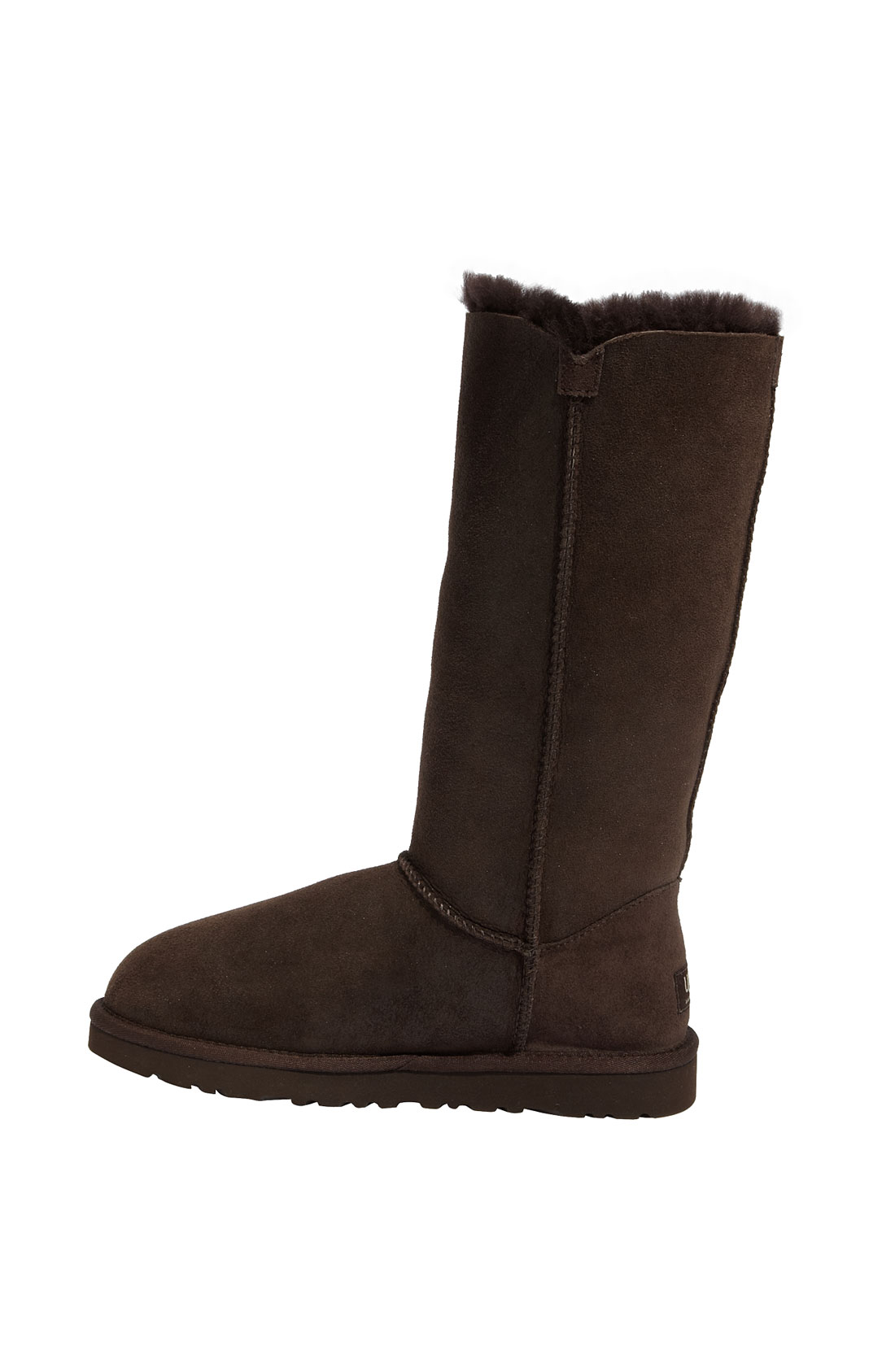 ugg bailey button bomber boots chocolate