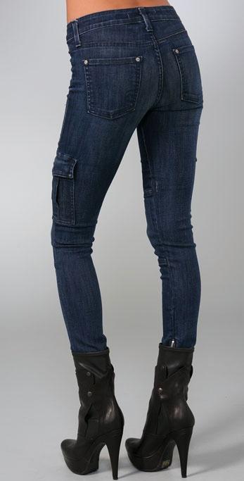 984cbd273de5ea Vince Ankle Cargo Skinny Jeans in Blue - Lyst