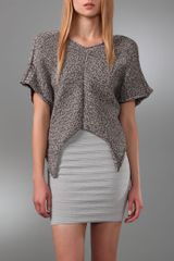 Cut25 V Neck Short Sleeve Sweater - Lyst