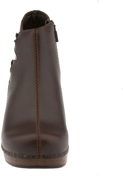 dansko fiona boot in brown brown leather lyst
