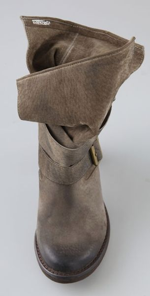 jeffrey campbell france suede boots in gray grey lyst. Black Bedroom Furniture Sets. Home Design Ideas