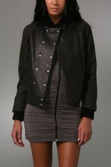 Rag & Bone Varsity Leather Jacket - Lyst
